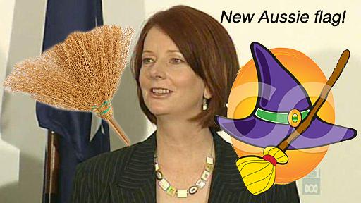 Julia Gillard takes flight.