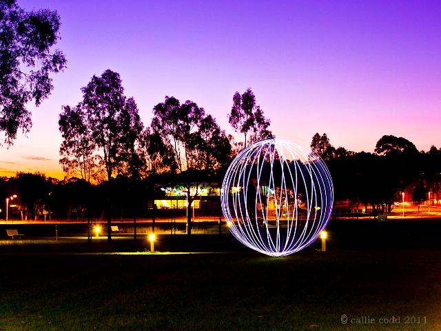 Floating ball of light.