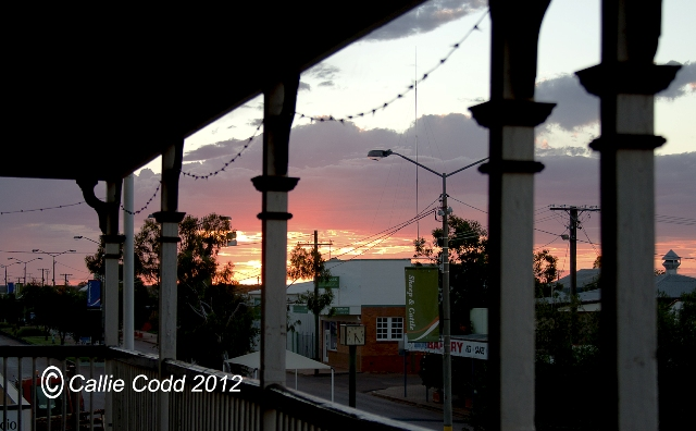 Sun set at Quilpie