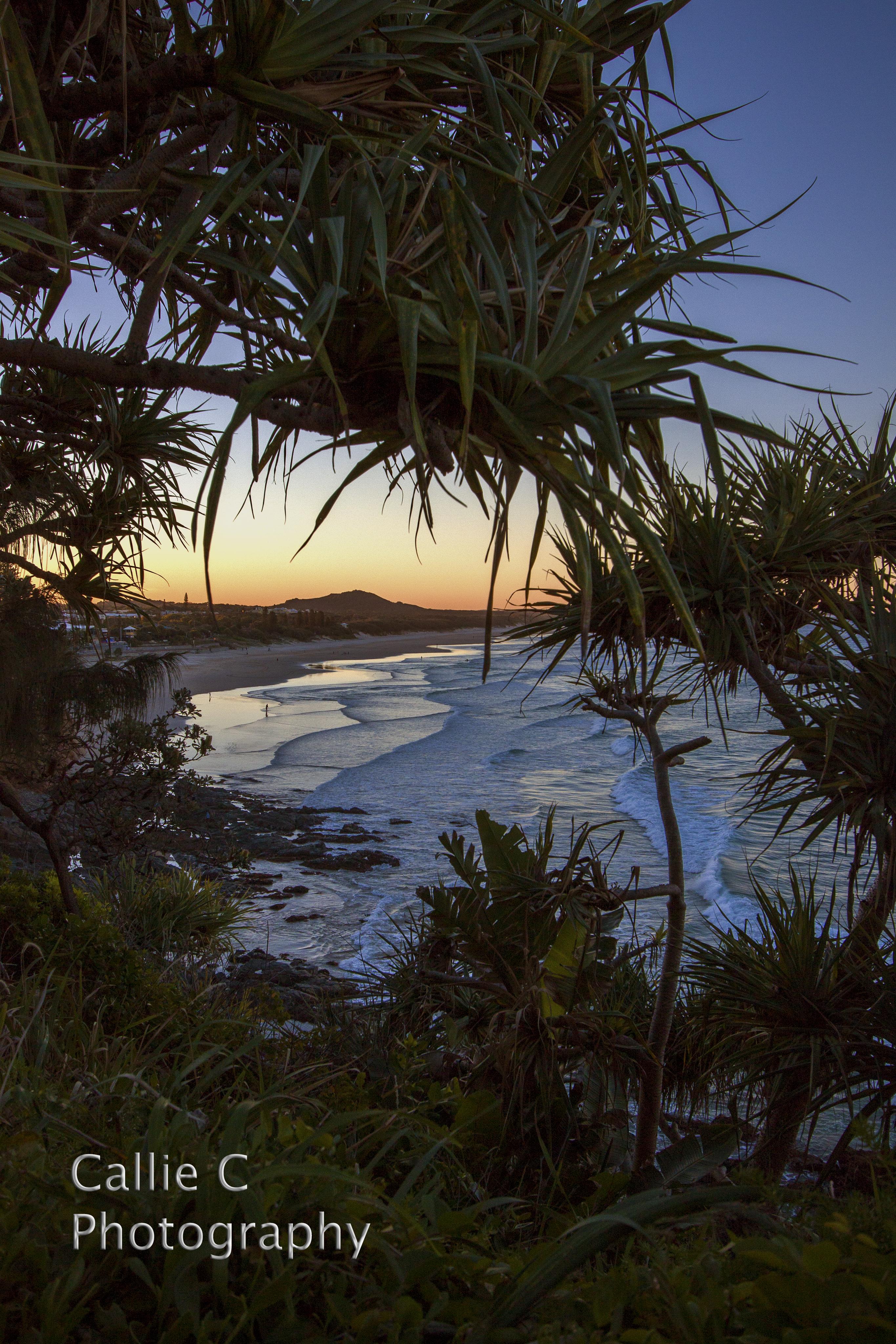 Coolum Beach As The Sun Goes Down.